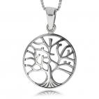 Stříbrný přívěsek - Strom života kulatý