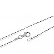 Stříbrný řetízek, broušené kuličky - 40cm