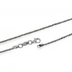 Stříbrný řetízek třpytivý, Daisy - 50 cm