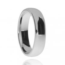 Stříbrný snubní prsten s rhodiovaným povrchem