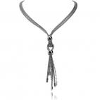 Stříbrný náhrdelník s uzlíkem a ozdobným vodopádem