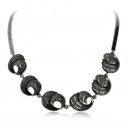 Stříbrný náhrdelník s markazity, spirály