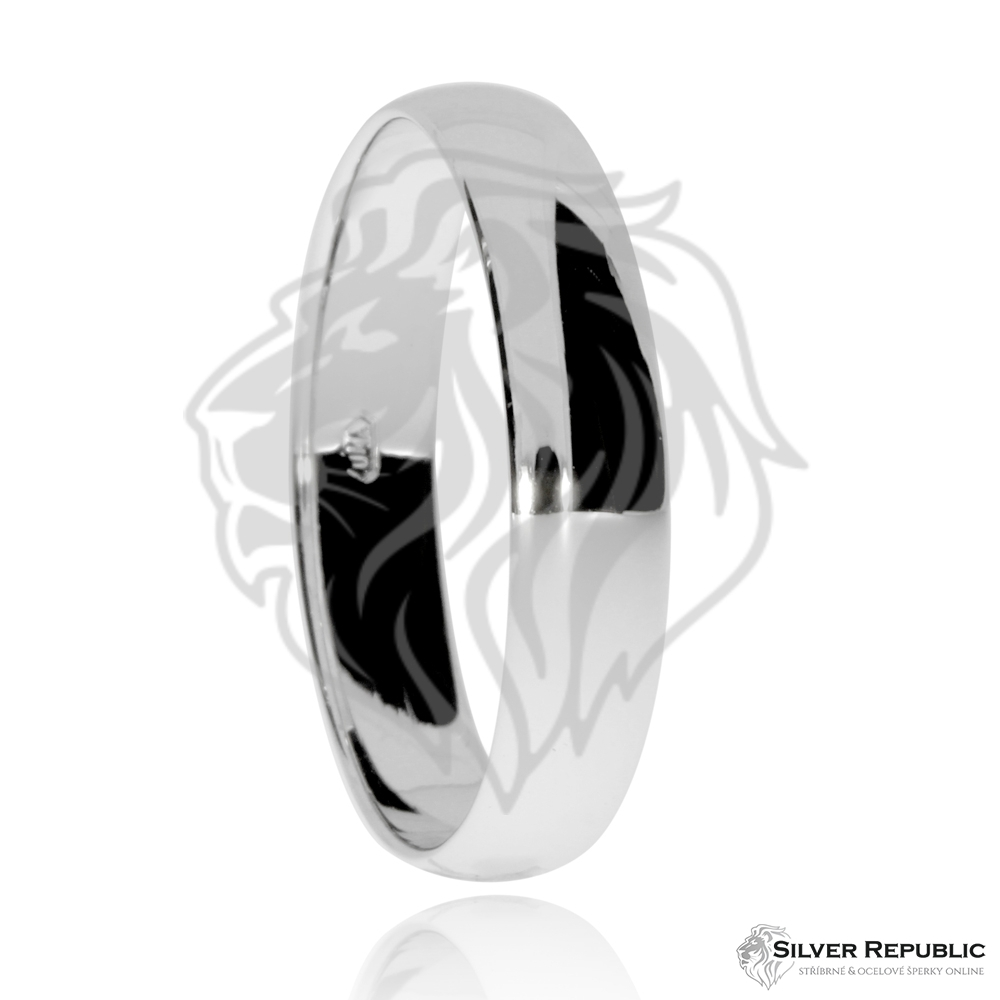 Stredne Siroky Stribrny Prsten Snubniho Typu Silverrepublic Cz