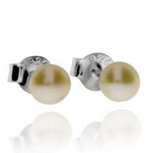 Stříbrné náušnice s drobnou perlou (perla říční)