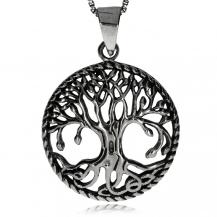 Stříbrný přívěsek - Kruh se stromem života