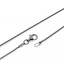 Stříbrný řetízek, hranaté články - 40 cm