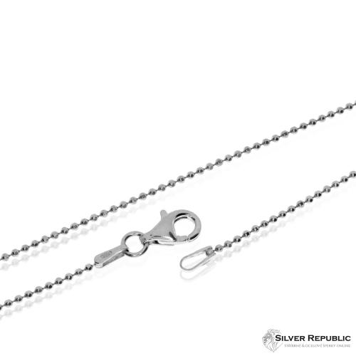 Stříbrný řetízek, broušené kuličky - 50cm