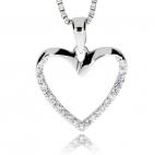 Stříbrný přívěsek srdcový se zirkony (cubic zirconia)