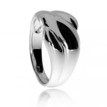 Stříbrný prsten, spirála s širším středem