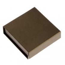Elegantní dárková krabička v hnědé barvě - zavírání na magnet