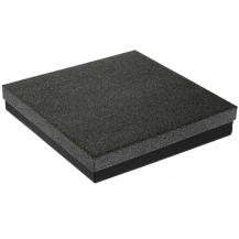 Velká dárková krabička v černo-stříbrné barvě