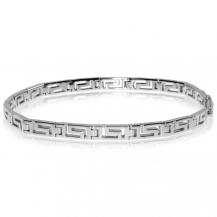 Stříbrný náramek širší, řecký vzor