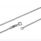 Stříbrný řetízek, kulaté články - 50 cm