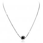 Stříbrný náhrdelník s ozdobnou lesklou kuličkou - 40 cm