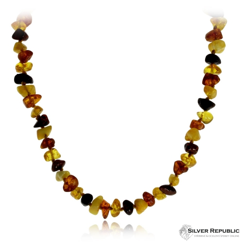 Jantarový náhrdelník dětský 32 cm