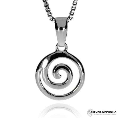 Stříbrná sada - Tvar spirály