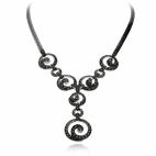 Stříbrný náhrdelník s přírodními markazity