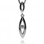Stříbrná sada se zirkonem (cubic zirconia) - Slzička s kamenem