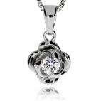 Stříbrná sada se zirkony (cubic zirconia) - Růže