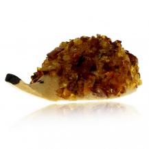 Jantarová figurka - ježek