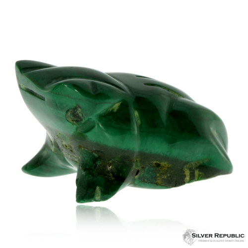 Malachitová figurka - Žába