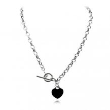 Stříbrný náhrdelník s visací ozdobou ve tvaru srdce