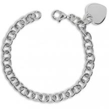 Stříbrný náramek - Přívěsek ve tvaru srdce