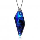 Stříbrný náhrdelník Preciosa Flawless Elegance Bermuda Blue 6687 46L - 45cm