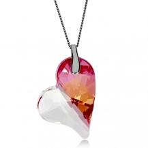 Stříbrný náhrdelník Preciosa Lover´s Love Fuchsia 6693 55L - 45cm