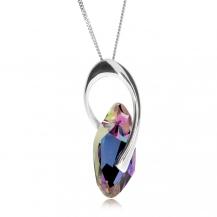Stříbrný náhrdelník Preciosa Graceful Style Vitrail Light 6778 43L - 45cm