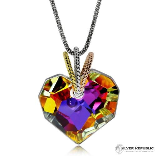 Stříbrný náhrdelník Preciosa Chérissant Volcano 6798 45L - 45cm