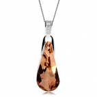 Stříbrný náhrdelník Preciosa Crystal Beauty Apricot 6800 49L - 45cm