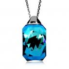 Stříbrný náhrdelník Preciosa Miltonia Bermuda Blue 6248 46L - 45cm