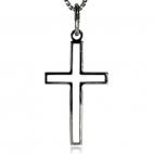 Stříbrný přívěsek - Kříž tvořený liniemi