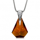 Stříbrný náhrdelník Pompe Topaz 6666 61L - 45cm
