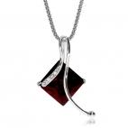 Stříbrný náhrdelník Preciosa Comely Garnet 5031 63L - 45cm