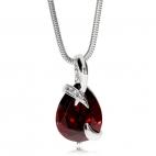 Stříbrný náhrdelník Preciosa Dainty Garnet 5035 63L - 45cm