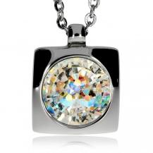 Ocelový náhrdelník Preciosa Livia Elegant Crystal AB 7153 42L - 45cm