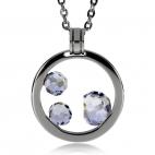 Ocelový náhrdelník Preciosa Amanda Crystal Lagoon 7017 16L - 45cm
