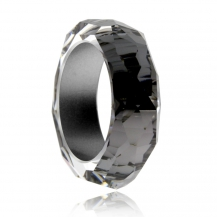 Skleněný prsten Preciosa Créativité Chrome S000 40