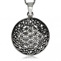 Stříbrný přívěsek - Proplétané ornamenty