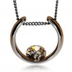 Ocelový náhrdelník Preciosa Glamorous White 7126P00L - 45cm