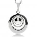 Stříbrný přívěsek - asymetrické kruhy