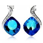Stříbrné náušnice Preciosa Butterfly Dream Bermuda Blue 6296 46