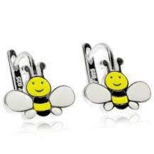 Stříbrné dětské náušnice - Včely