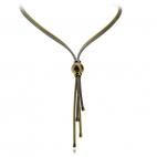 Stříbrný náhrdelník s ozdobnou zlacenou kuličkou