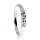 Stříbrný prsten ARETE  s diamanty v řádce - celkem 0,15 ct