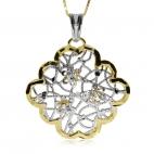 Stříbrný přívěsek se Swarovski krystaly částečně pozlacený