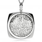 Stříbrný přívěsek - Čtverec s kulatým středem