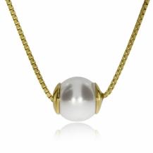 Stříbrný náhrdelník s perličkou